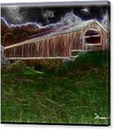 Livingston Manor Covered Bridge - Featured In Comfortable Art Group Canvas Print
