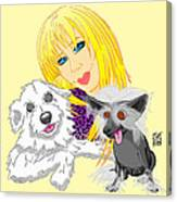 Lizzie And Dimey And Pinny Canvas Print