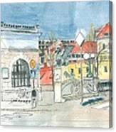 Ljubljana - Dragon's Bridge Canvas Print