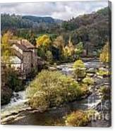 Llangollen And The River Dee Canvas Print