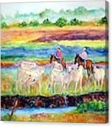 llanos Cowboys Canvas Print