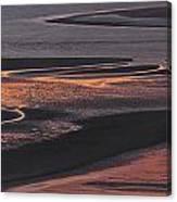 Llansteffan Sunset Glow Canvas Print