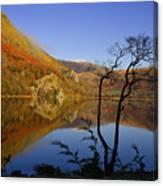 Llyn Gwynant Is A Lake In Snowdonia  Wales Canvas Print