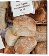 Loaves Of Organic Bread Canvas Print