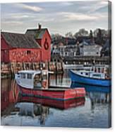 Lobster Boats At Motif 1 Canvas Print
