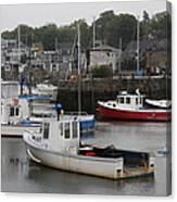 Lobster Fleet Rockport Harbor Canvas Print