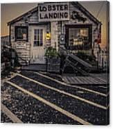 Lobster Landing Shack Restaurant At Sunset Canvas Print