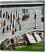 Lobster Pots And Buoys Canvas Print