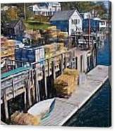Lobster Traps At New Harbor Canvas Print