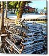 Lobster Traps Caye Caulker Belize Canvas Print