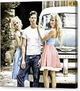 Local Country Store Pinup Canvas Print