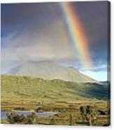 Loch Ba Rainbow Canvas Print
