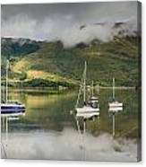 Loch Leven Sailboats Canvas Print