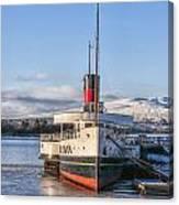 Loch Lomond Paddle Steamer Canvas Print