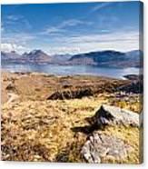 Loch Torridon From Bealach Na Gaoithe Canvas Print