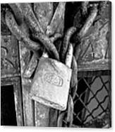 Locked - Black And White Canvas Print