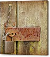 Locked Shut Canvas Print