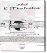 Lockheed Ec-121t Super Constellation Canvas Print