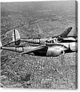 Lockheed P-38 Lightning Fighter Canvas Print