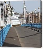 Locks On Bridge Canvas Print