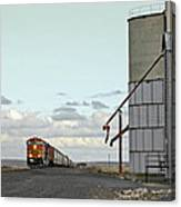 Locomotive And Silos Canvas Print