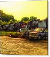 Locomotive Graveyard Canvas Print