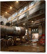 Locomotive - Locomotive Repair Shop Canvas Print