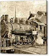 Locomotive No. 15 In The Yard Canvas Print