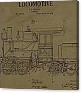 Locomotive Patent Postcard Canvas Print
