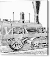 Locomotive Sandusky, 1837 Canvas Print
