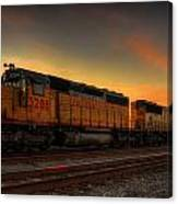 Locomotive Sunset Canvas Print