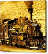Sepia Locomotive Coal Burning Train Engine   Canvas Print