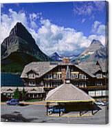 Lodge At Many Glacier, Glacier National Canvas Print