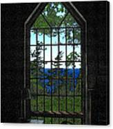 Lodge Window At The Clearing Canvas Print