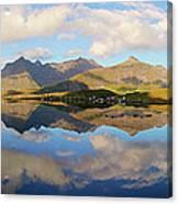 Lofoten Panorama Selfjorden Norway Canvas Print