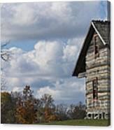 Log Cabin And November Sky Canvas Print