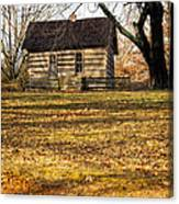 Log Cabin On A Hill Canvas Print