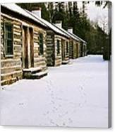 Log Cabins In Fort Wilkins Canvas Print