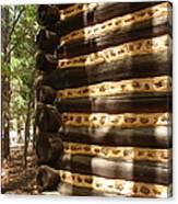 Log Corner Canvas Print