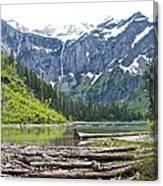 Log Jam In Avalanche Lake In Glacier Np-mt   Canvas Print