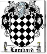 Lombard Coat Of Arms Irish Canvas Print