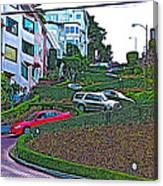 Lombard Street In San Francisco-california  Canvas Print