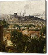 London And The Thames From Greenwich Canvas Print