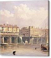 London Bridge, 1835 Canvas Print
