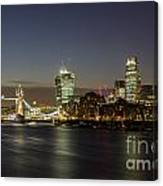 London City And Tower Bridge Canvas Print