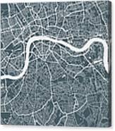 London City Map Canvas Print