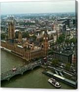 London England From The London Eye Canvas Print