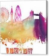 London England Skyline Pastel Canvas Print