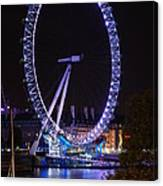 London Eye By Night Canvas Print