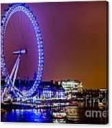 London Eye Night Glow Canvas Print